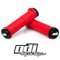 ODI GRIPS Troy Lee Designs Signature ATV Lock-On Bonus Pack Red w/Black White w/Red Clamps