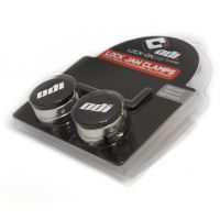 ODI GRIPS Set Lock Jaw Clamps w/Snap Caps - Silver