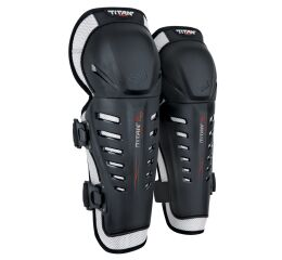 FOX Yth Titan Race Knee/Shin Guards - OS, Black MX21