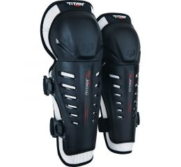 FOX Titan Race Knee/Shin Grd, Ce-OS-Black MX20