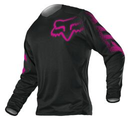 FOX Wmn Blackout Jersey - Black/Pink MX21