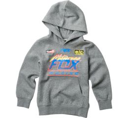 FOX Youth Jetskee Pullover, Heather Graphite, LFS18F