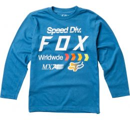 FOX Youth Murc Ls Tee, Dusty Blue, LFS18F