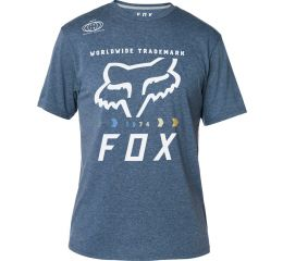 FOX Murc Fctry Ss Tech Tee, Heather Deep Cobalt, LFS18F
