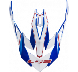 LS2 PEAK MX470 POWER CHROME BLUE