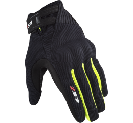 LS2 DART 2 MAN GLOVES BLACK H-V YELLOW