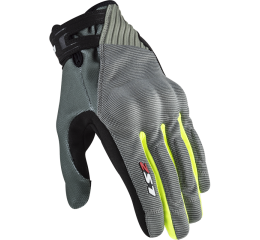 LS2 DART 2 MAN GLOVES GREY H-V YELLOW