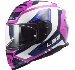 LS2 FF800 STORM TECHY GLOSS WHITE PINK