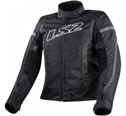 LS2 GATE LADY JACKET BLACK DARK GREY