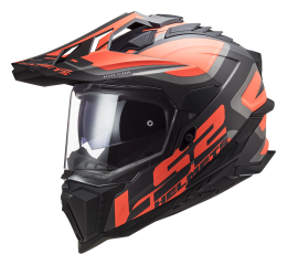 LS2 MX701 EXPLORER ALTER MATT BLACK FL.ORANGE