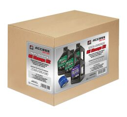 Oil change kit + diff. - ACCESS AX 650/750/850 (1pc filter, 4l oil)