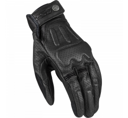 LS2 RUST MAN GLOVES BLACK LEATHER