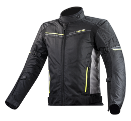 LS2 SHADOW MAN JACKET BLACK TITANIUM H-V YELLOW