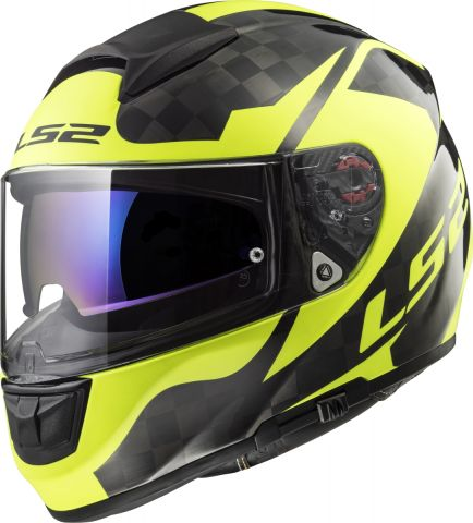 LS2 FF397 VECTOR C SHINE Carbon, H-V Yellow 3XL